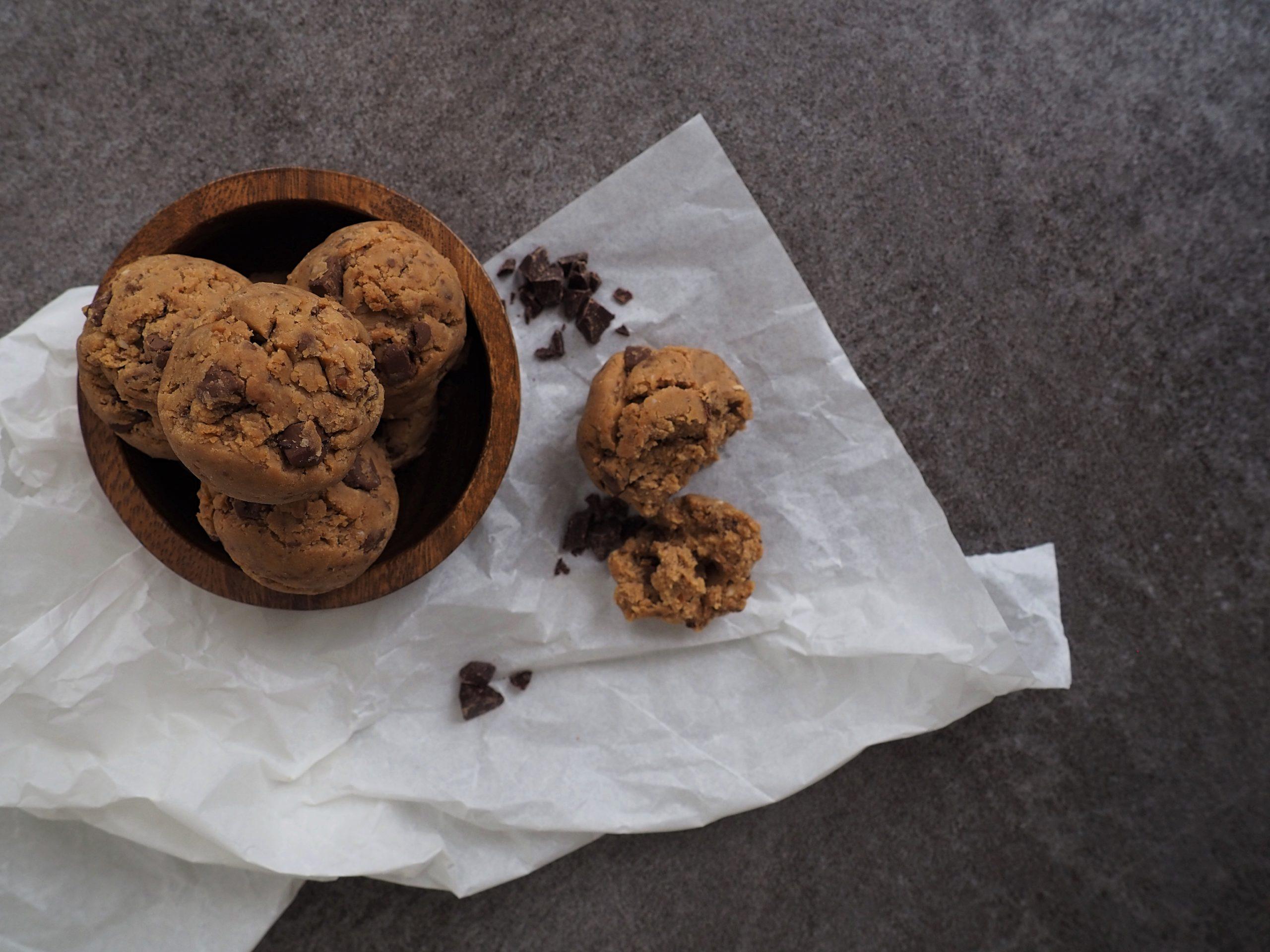 Vegan Cookie Dough; essbarer Keksteig