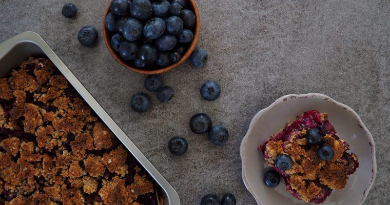 Vegane Blaubeer Breakfast Bars