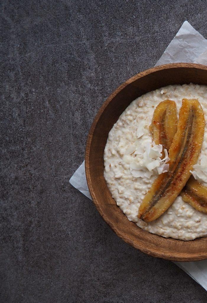 Coconut Porridge with toasted Bananas