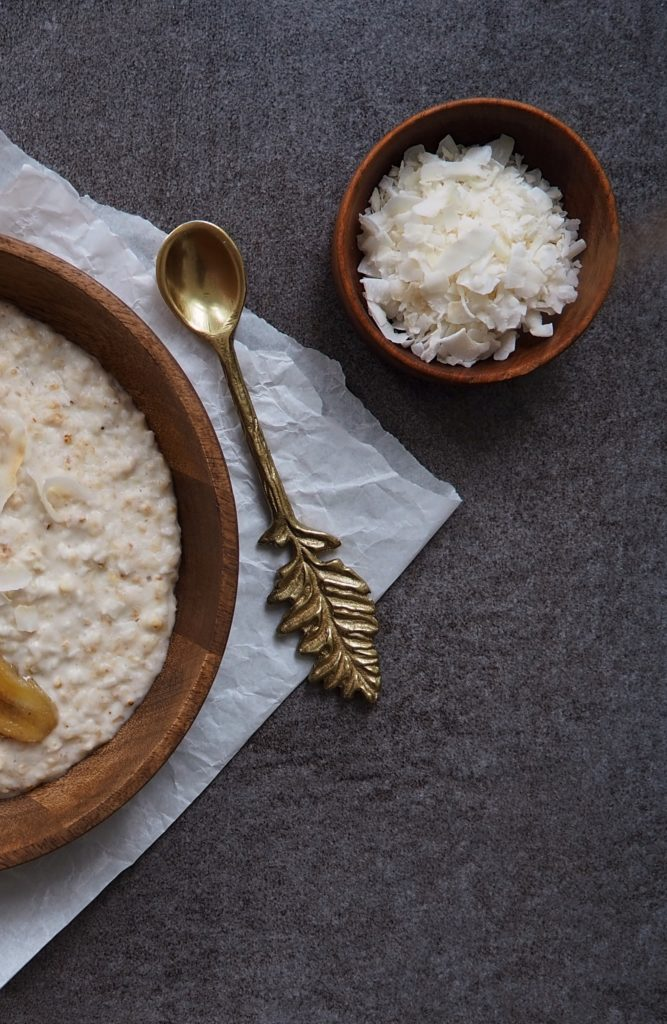 Coconut Porridge with toasted Bananas