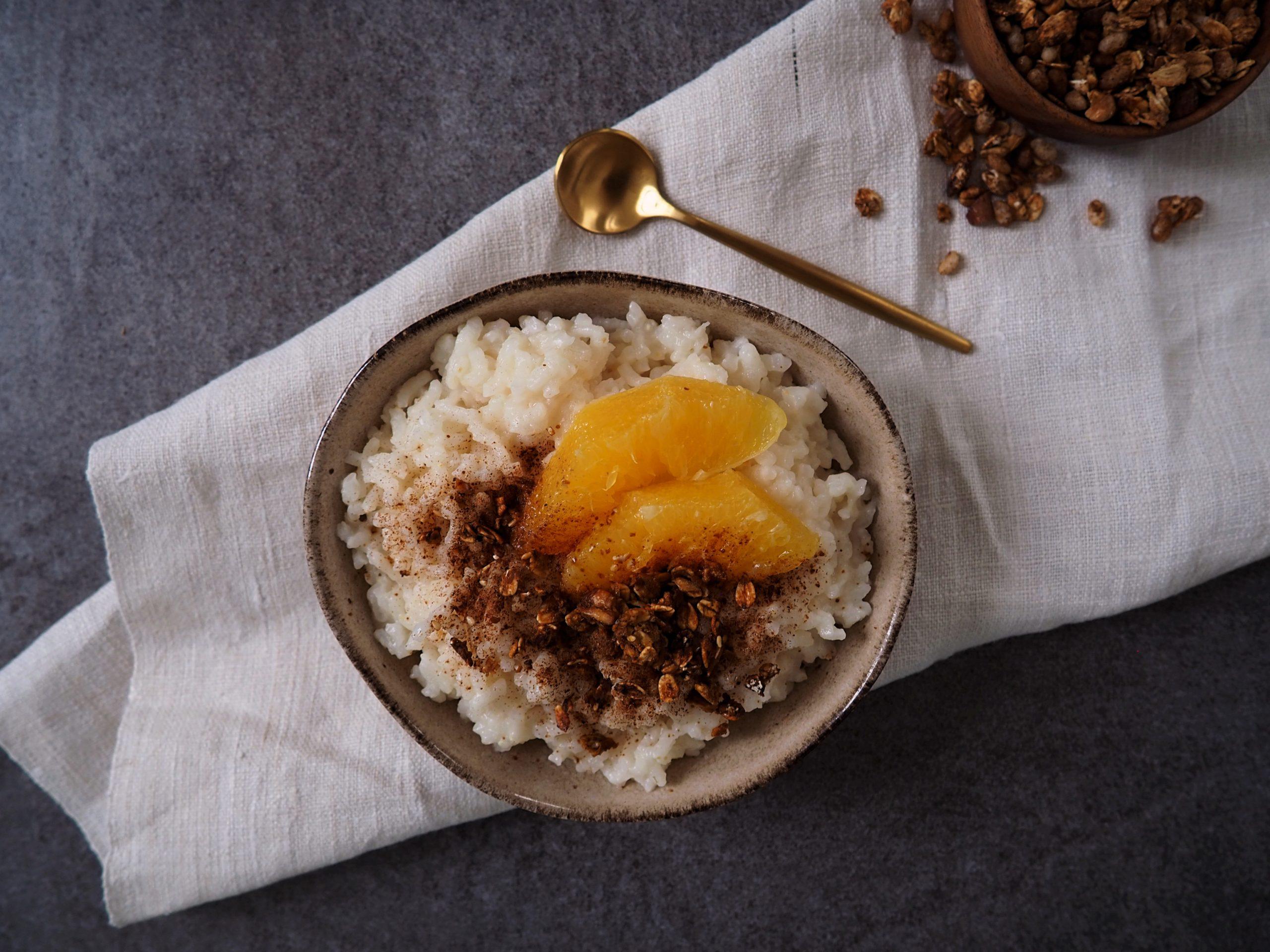 Veganer Milchreis mit Reisdrink